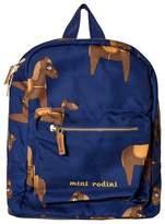 Mini Rodini Navy Horse Backpack