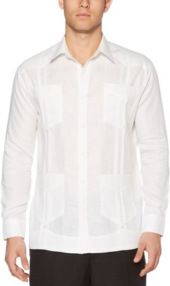 Cubavera Men's Classic-Fit Guyabera Long-Sleeved Button-Down Shirt