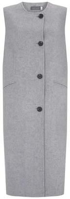 Mint Velvet Grey Split Seam Long Waistcoat