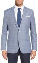 BOSS Men's Hutsons Trim Fit Plaid Wool & Cotton Sport Coat