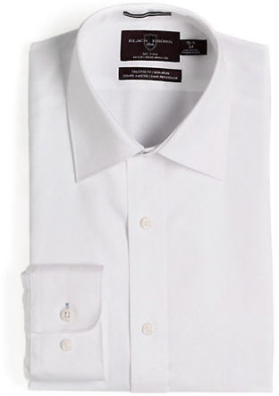 Black Brown 1826 Fitted Non-Iron Dress Shirt