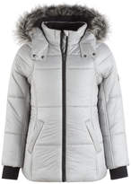 Calvin Klein Expedition Hooded Puffer Coat with Faux Fur Trim, Toddler Girls