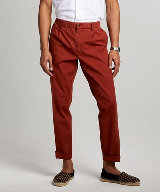 Todd Snyder The Pleated Pant in Rust