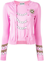 Moschino pearl knit top cardigan - women - Cotton - 40
