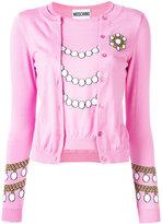 Moschino pearl knit top cardigan - women - Cotton - 42