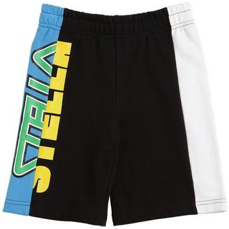 Stella Mccartney Kids Logo Print Organic Cotton Sweat Shorts