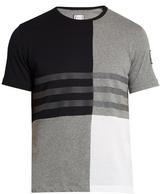 Moncler Gamme Bleu Contrast-panel cotton T-shirt