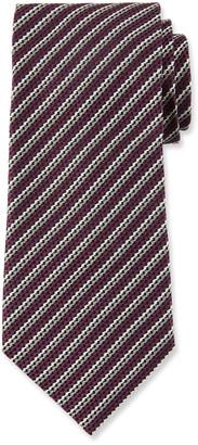Ermenegildo Zegna Men's Narrow Multi-Stripe Silk Tie