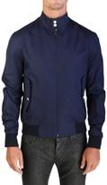 Christian Dior Men's Blouson Harrington Zip Jacket Blue Houndstooth