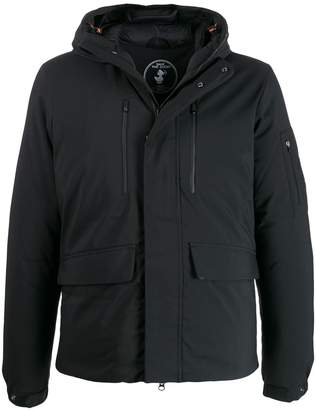 Save The Duck technical material short zipped jacket