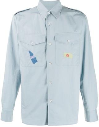 Marni Embroidered Chest Pocket Shirt