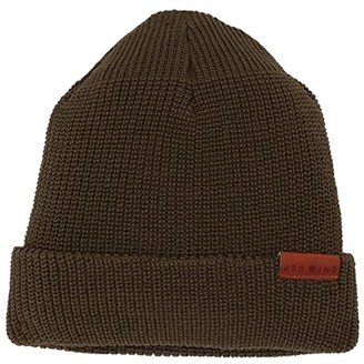 Red Wing Shoes Merino Wool Knit Hat (Olive) Beanies