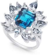 Macy's Blue Topaz (3-1/2 ct. t.w.) & White Topaz (2-5/8 ct. t.w.) Ring in Sterling Silver