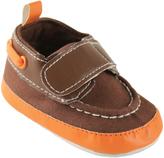 Luvable Friends Brown Boat Shoe