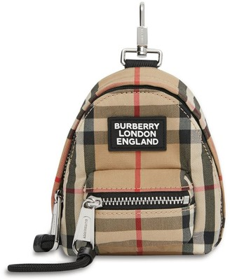 Burberry Vintage Check Backpack Keyring