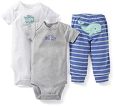Carter's Baby Boys 3 Piece Bodysuit Pant Set Whale