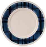 Fitz & Floyd Stoneware Bristol Indigo Tartan Dinner Plate