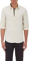 Barneys New York Men's Donegal-Effect Cotton-Blend Shirt-IVORY