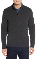 Nordstrom Regular Fit Cashmere Quarter Zip Pullover (Regular & Tall)