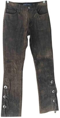 Ralph Lauren Brown Suede Trousers