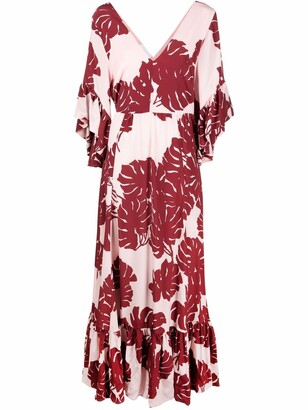La DoubleJ Bella maxi silk dress