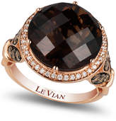 LeVian Le Vian Chocolate Quartz (8 ct. t.w.) and Diamond (3/4 ct. t.w.) Ring in 14k Rose Gold, Created for Macy's