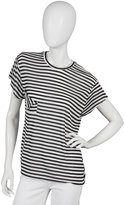 Torn Pocket Tee in Black and White Stripe