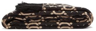 Gucci GG Bee-jacquard Blanket - Black Cream