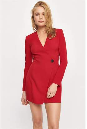 Dynamite Blazer Dress Chili Pepper Red