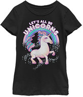 Fifth Sun Black 'Let's All Be Unicorns' Tee - Toddler & Girls