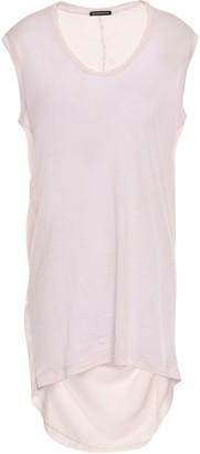 Ann Demeulemeester Paneled Cotton-blend Jersey And Satin Top