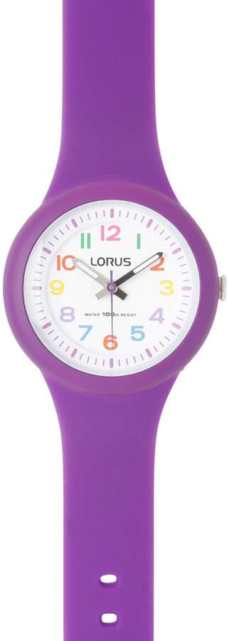 Lorus RRX47EX-9 Kids' Purple Strap Coloured Number Analogue Watch