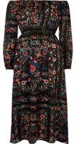 River Island Womens Black floral print bardot maxi dress
