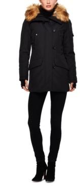 S13 Alps Faux-Fur-Trim Hooded Puffer Coat
