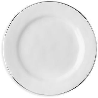 Juliska Puro Platinum-Rim Ceramic Stoneware Dessert & Salad Plate