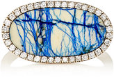 Monique Péan Women's White Diamond & Azurite Oval-Faced Ring