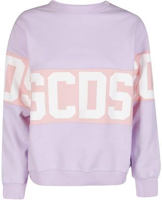 GCDS Band Logo Crewneck Sweatshirt