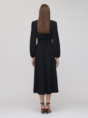Maria Lucia Hohan Rury Wrap Crepe Midi Dress