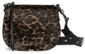 AllSaints Kim Round Calf Hair Leather Crossbody Bag