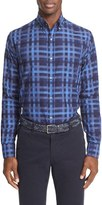 Paul & Shark Men's Graphic Check Sport Shirt