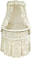 Badger Basket Elegance Round Baby Bassinet, with Sage Toile