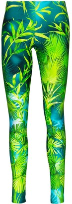 Versace Palm-Print Leggings