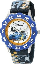 Disney Kids' W000397 Tween Cars Stainless Steel Blue Bezel Printed Strap Watch