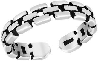 Aeravida Handmade Watch Strap Adjustable Sterling Silver Pinky or Toe Ring