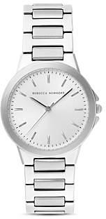 Rebecca Minkoff Cali Silver-Tone Bracelet Watch, 34mm