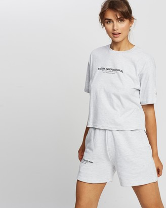 Stussy Text Waisted Oversized Tee