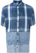 DSQUARED2 patchwork shortsleeved shirt - men - Cotton/Linen/Flax/Ramie - 50