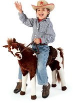Sit-On Pinto Horse