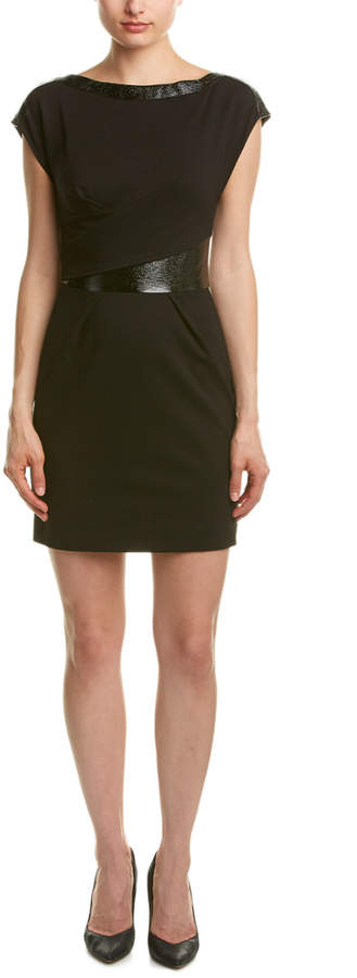 The Kooples Mixed Media Sheath Dress