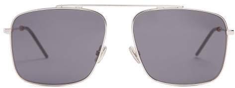Christian Dior Sunglasses - Square Frame Metal Sunglasses - Mens - Silver